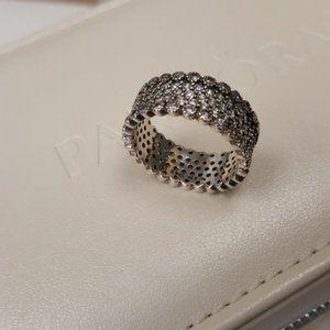 Pandora Lavish Sparkling Pave Band Ring